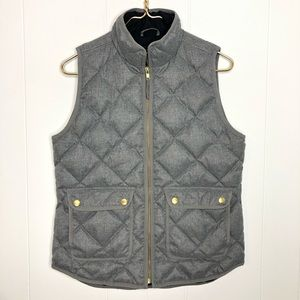 2015 j crew quilted down puffer vest